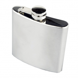 ASR Outdoor Stainless Steel Hip Flask 6 Oz Capacity Screw Cap for Camping Hiking