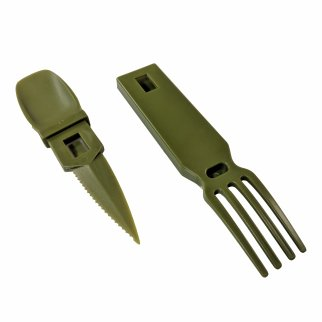 ASR Outdoor Snapatite 3 in 1 Utensil Camping Tool - OD Green
