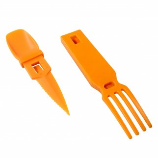 ASR Outdoor Snapatite 3 in 1 Utensil Camping Tool - Orange