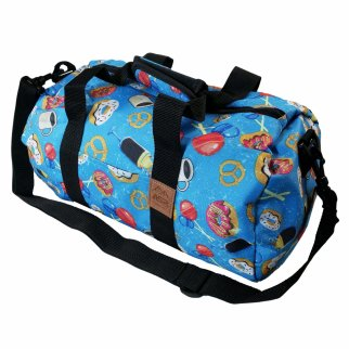ASR Outdoor Donuts Pattern Duffel Bag Shoulder Strap Blue