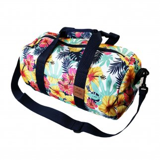 ASR Outdoor Round Duffel Bag Tropical Pattern Tote Bag