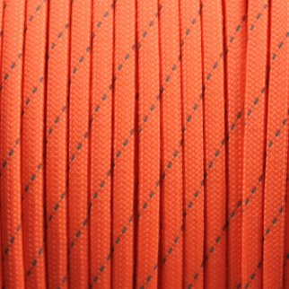 550lbs Strength Survival Paracord Rope Camping Hiking Reflective Orange- 25ft