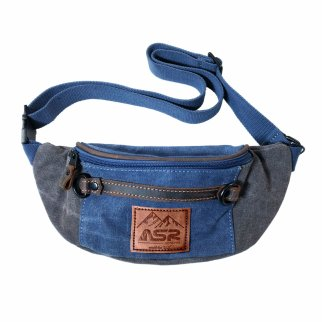 ASR Outdoor Man Pack Fanny Waist Bag Water Resistant - Blue