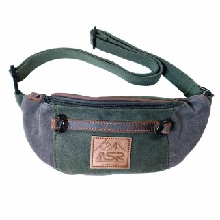 ASR Outdoor Man Pack Fanny Waist Bag Water Resistant - Green