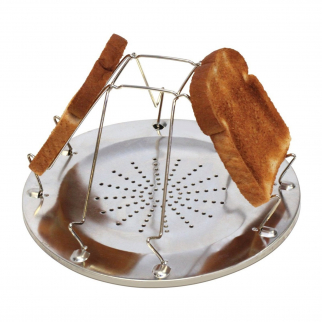 4 Slice Open Fire Grill Toaster Stainless Steel