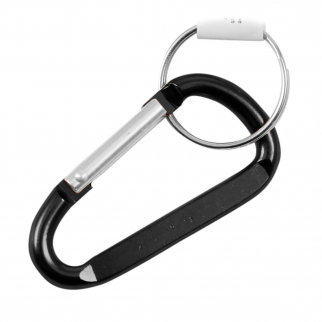 2 Inch Extra Small Carabiner Key Chain - Black