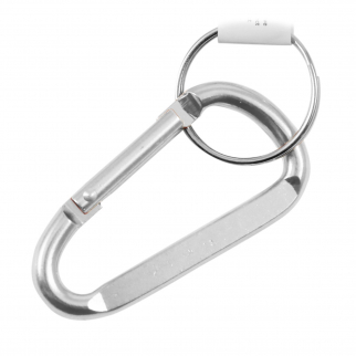 "2.5"" Small Carabiner Key Chain - Chrome Silver"