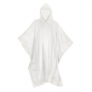 ASR Outdoor Emergency Poncho Clear Polyethylene Rain Gear Camping