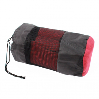 ASR Outdoor Fleece Sleeping Bag Cold Weather Liner Camping Hiking - Burgundy