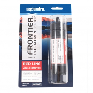 Aquamira Frontier Replacement Series II Water Filter Red Line Virus Protection