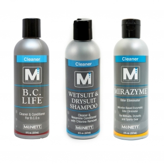 M Essentials Wetsuit Drysuit Shampoo Mirazyme Odor Eliminator BC Life Bundle