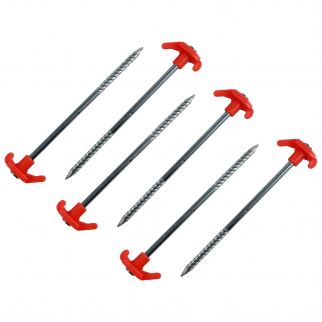 6pc Orange Heavy Duty Tent Stakes