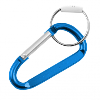 "7mm 2.75"" Medium Carabiner Key Chain - Light Blue"