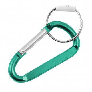 6 Pack Aluminum Multi-Color Carabiner Spring Clip Keychain (Many Sizes, Colors)