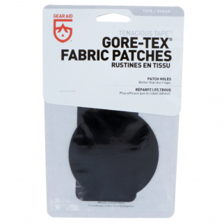 GORETEX Flexible Fabric Patch Repair Kit Medium Weight Camping - 2pc Black Small