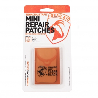 Gear Aid Tenacious Tape Technical Fabric Mini Repair Patches - Black and Clear