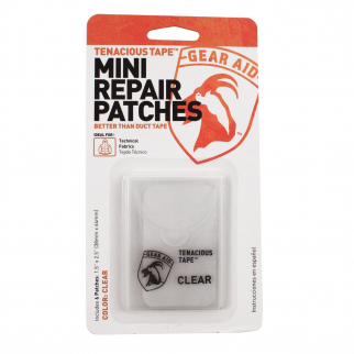 Tenacious Tape Mini Repair Patches Technical Camping and Hiking - Clear