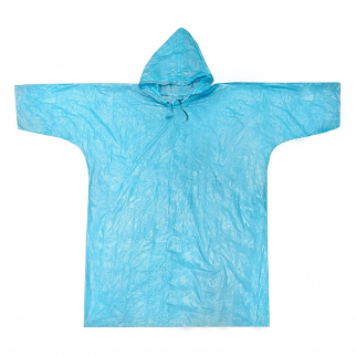 ASR Outdoor Blue Emergency Poncho One Size Fits Most