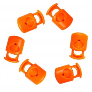Orange Cord Lock Replacement Toggle for Jackets Bungee Cord 6 Pack