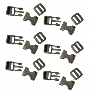 6 Pack McNett Plastic Quick Release Side Buckle Kit 5/8 Inch