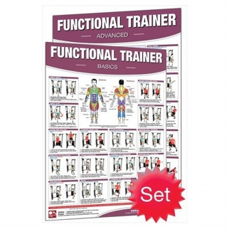 Productive Fitness Poster Series Set Functional Trainer Laminated (Basic and Advanced)