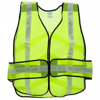ASR Outdoor Universal Fit Safety Vest High Visibility Lime Green Reflective