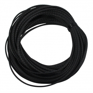 Black Braided Vectran Cord Survival Black 25 Foot
