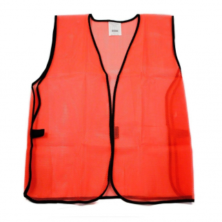 Universal Safety Vest High Visibility Orange Mesh Unisex One Size Fits All