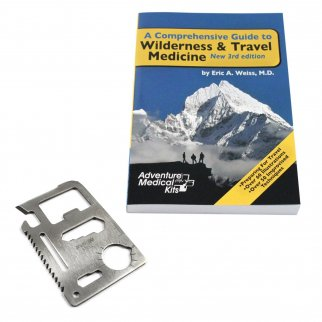 A Comprehensive Guide to Wilderness and Travel Medicine With 11 function Survival Tool