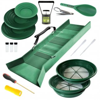 ASR Outdoor Deluxe Sluice Box Gold Rush Kit - 16 Piece Set
