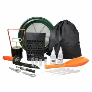 ASR Outdoor 20pc Beach Digger Gold Panning Kit with Black Drawstring Backpack