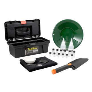 "21pc ASR Outdoor Gold Rush Complete Gold Prospecting Kit with Bonus 10"" Sifting Pan"