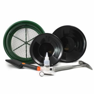 ASR Outdoor Classic Field Gold Panning Kit - 9 Pieces