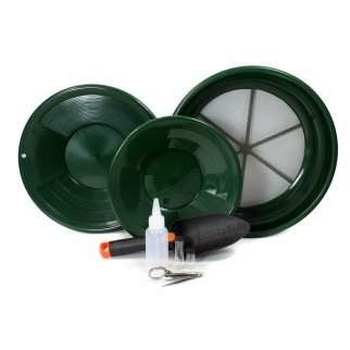 ASR Outdoor Classic Field Green Gold Panning Kit - 9 Pieces