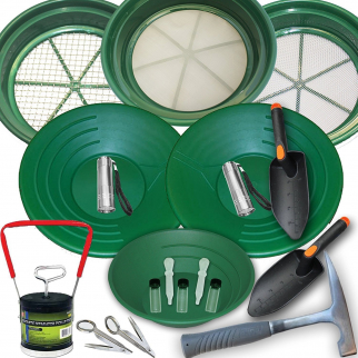 19pc Ultimate Gold Prospecting Kit for Beginners and Kids