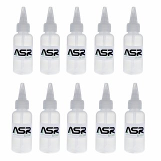 ASR Outdoor 5in Plastic Heavy Duty Gold Snifter Bottle with Nozzle (10 Pack)