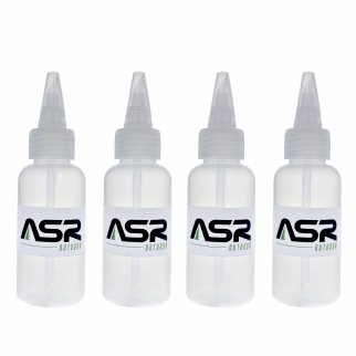 "ASR Outdoor 5"" Plastic Heavy Duty Gold Snifter Bottle w/ Nozzle (4 Pack)"