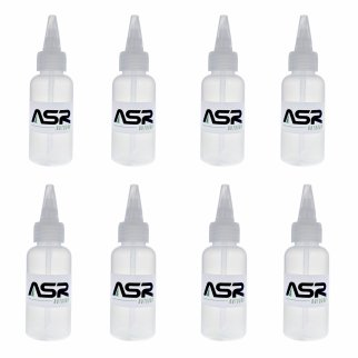 (8 Pack) ASR Outdoor 5in Plastic Heavy Duty Gold Snifter Bottle with Nozzle