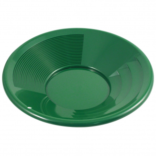 ASR Outdoor 12 Inch Green Gold Prospecting Gold Mining Pan Shallow Deep Riffles