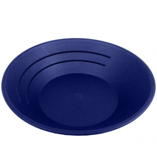 "BLUE 10"" Gold Rush Gravity Trap Gold Pan - High Impact Flexible Plastic"