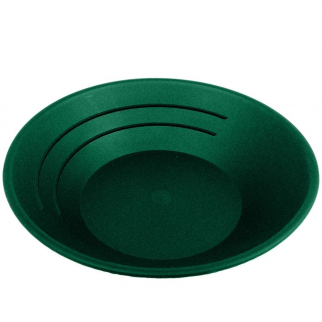 "Green 10"" Gold Rush Gravity Trap Gold Pan - High Impact Flexible Plastic"