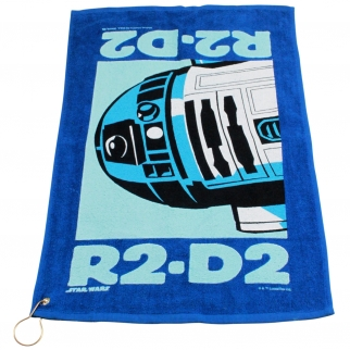 Star Wars R2D2 Blue Golf Towel with Corner Grommet
