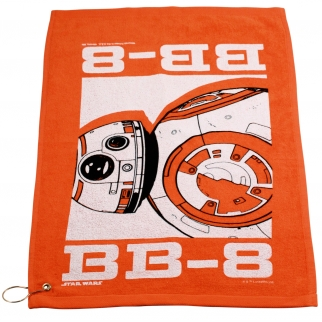 Star Wars BB8 Orange Golf Towel with Corner Grommet