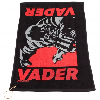 Star Wars Darth Vader Black Golf Towel with Corner Grommet