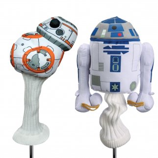 Star Wars Golf Head Cover 460cc Drivers and Woods Droid Set BB8 and R2D2