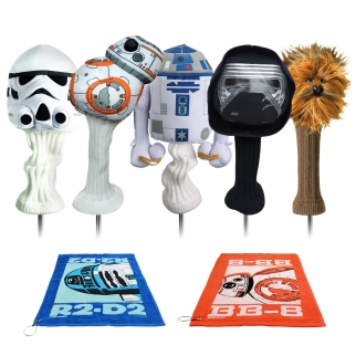 Star Wars The Last Jedi Set Golf Head Covers and Towels Set