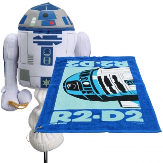 Star Wars R2D2 460cc Golf Head Cover and Towel with Corner Grommet Set