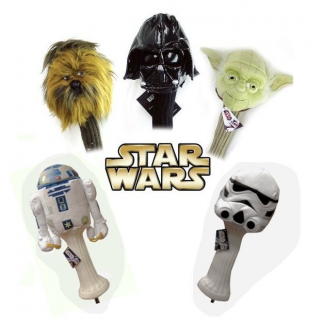 5pc Golf Head Cover Star Wars Collector Set 460cc Driver Wood Headcover