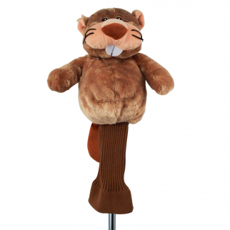 Golf Head Cover Brown Beaver 460cc Driver Sporting Goods Headcover Accessory