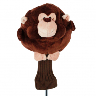 Chubby Chipper Monkey Brown Plush 460cc Golf Head Cover